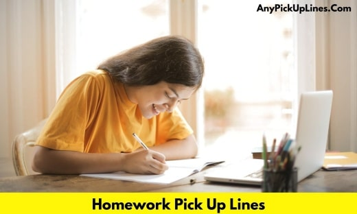 Homework Pick Up Lines